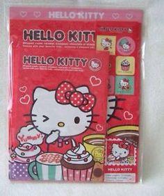 Sanrio Hello Kitty letter set cupcakes kawaii