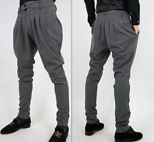 Mens Casual Low Drop Crotch Sport Harem Pants Baggy Trousers Slacks