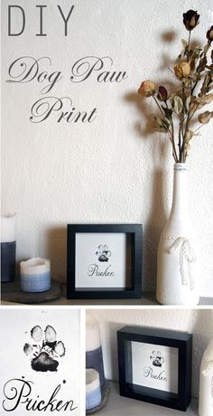I almost did something like this with my cats for xmas last year. I really wish I had since we had to put Dinsdale down in February.   DIY dog paw print - SabineEisenhart.devote.se