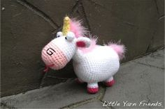 "littleyarnfriends: "" After making Lil' Minion and Lil' Agnes, many of you have been asking for Agnes's fluffy unicorn. I have to agree, Agnes will not be complete without her awesome unicorn..."