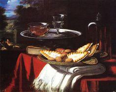 """Cittadini Pier Francesco, """"il Milanese""""(Milano, 1613/18 - Bologna, 1681), natura morta"""