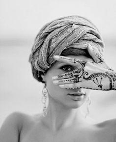 henna and turban