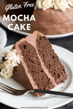 You will love my moist & chocolatey Gluten Free Mocha Cake recipe. Chocolate, coffee & a bit of spice gives it a unque flavour that is hard to resist! Gluten Free Deserts, Gluten Free Treats, Gluten Free Baking, Gluten Free Cakes, Gluten Free Recipes, Mocha Cake, Delicious Cake Recipes, Yummy Cakes, Best Dessert Recipes