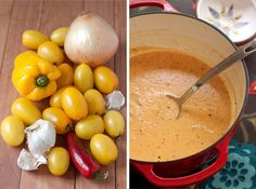 Roasted Yellow Tomato Soup Recipe - Back to the Cutting Board