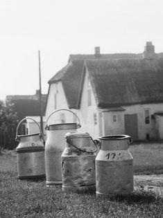 Sammelstelle für Milchkannen in Neuendorf auf der Insel Hiddens | V-like-Vintage