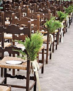 rosemary as aisle decor