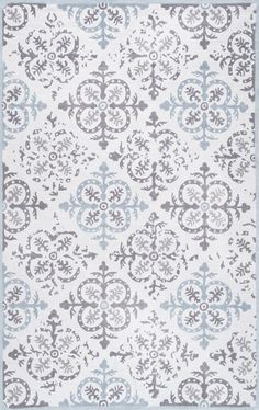 Signe Hand-Hooked Grey Area Rug