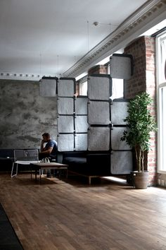 FeltTile from Rom & Tonik. Acoustic tiles from wool. Sound Proofing, Acoustic, Tiles, Wool, Studio, Projects, Inspiration, Furniture, Home Decor