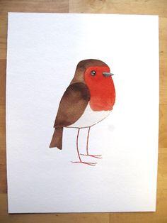 Robin print by Matt Sewell