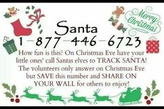 Santa's elves phone number for xmas eve