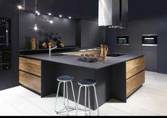 Modern Kitchen Design : nouveauté cuisine design 2016 2017 quand le bois chaud et structuré sharm Kitchen Room Design, Kitchen Cabinet Design, Modern Kitchen Design, Home Decor Kitchen, Kitchen Living, Interior Design Kitchen, Kitchen Furniture, New Kitchen, Kitchen Layout