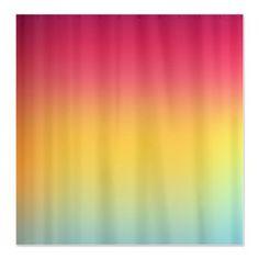 Rainbow Gradient Shower Curtain  Ornaart Design por Ornaart en Etsy, $89.00