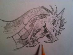 Drawing a Dragon's Head