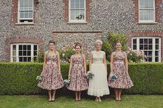 Vintage-Inspired Bridesmaid Dresses