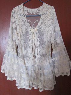 lace cotton..shabby chic jacket