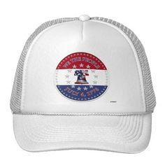 We The People July 4 1776 Bell with 13 & 50 Stars Hats    •   This design is available on t-shirts, hats, mugs, buttons, key chains and more   •   Please check out our others designs at: www.zazzle.com/ZuzusFunHouse* #vote