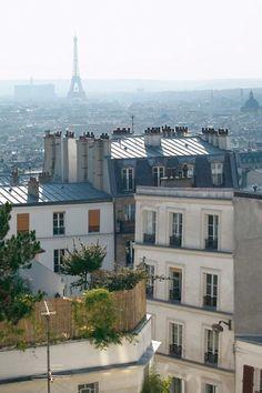 Vue de la Tour Eiffel de notre chambre