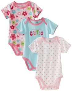 Gerber Baby-Girls Newborn 3 Pack Cutie Bodysuit, « Clothing Impulse