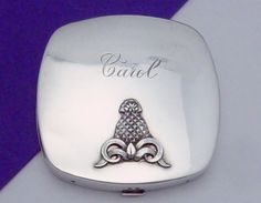 Vintage Sterling Silver Heavy Pineapple Bow Decorated Compact This item found at www.rubylane.com is currently listed to be on sale at 30% off for 48 hours starting 7/19/16 at 8am PDT #rubyredtagsale @rubylanecom