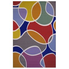 Groovy -colored Accent Rug