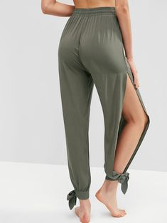 Fashion women's beach shorts and bottoms at ZAFUL. Wide selection of trendy summer beach shorts, beach skirt, beach pants and beach bottoms at great prices. Cute Lazy Outfits, New Outfits, Chic Outfits, Fashion Outfits, Diy Fashion, Homecoming Dresses High Low, Diy Clothes Tops, Split Pants, Swimwear Cover Ups