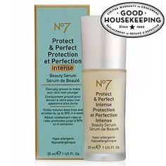 Boots No7 Protect & Perfect Intense Beauty Serum 1 fl oz (30 ml) by Boots No7. $38.50. Item Weight: 4.6 ounces. Anti Aging is getting Intense. Hypo-allergenic. Dermalogically tested. proven anti-aging formula. Anti Aging is getting Intense... No7 Protect & Perfect Intense Beauty Serum has been tested like no other cosmetic anti aging product in an independent 12 month trial. The findings clearly show that it has genuine, long term anti aging benefits. 70% of the volunte...