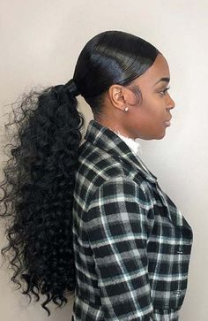 45 Elegant Ponytail Hairstyles for Special Occasions Natural Hair Styles natural hair ponytail styles Hair Ponytail Styles, Natural Hair Ponytail, Weave Ponytail Hairstyles, Cute Ponytails, My Hairstyle, Curly Hair Styles, Ponytail With Weave, Ponytail Ideas, Ponytails For Black Hair