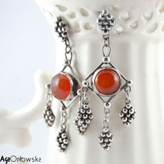 For Afghan Princess I | Silver Earrings With Carnelian - product images  of SCHJ  #silverearrings #silverjewellery #jewelry #jewellery #carnelian #earrings #jewellerystore #jewelleryboutique