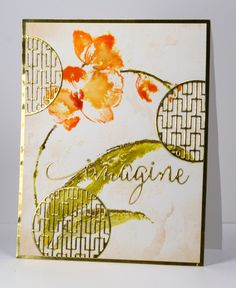 hand crafted card from Imagine Heather Telford ... Asian theme ... water color effect with orchid .. die cut circle screens ... Penny Black ...