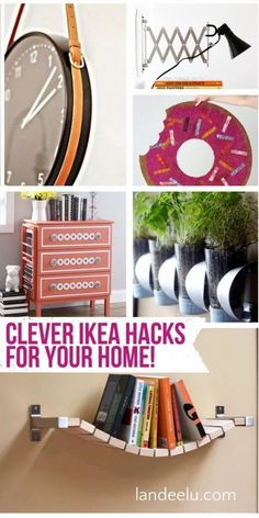 """I love the term """"Ikea Hacks"""" and I love that it is practically on it's way to being added to the dictionary. Who doesn't love a good Ikea hack? I have rounded up a TON of them today for you to peruse and get inspired by… people are so clever!"""