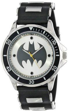 Batman Men's BAT9062 Analog Watch With Black Rubber Band *** More info could be found at the image url.