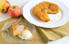 Franse tarte tatin (kookvideo) Sweet Bakery, Dose, A Food, Dairy, Peach, Cheese, Fruit, Desserts, Youtube