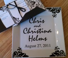 "custom ""wedding invitation plate"""