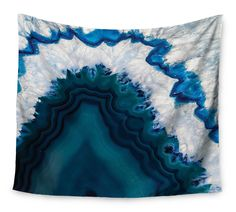 """KESS Original """"Blue Geode"""" Nature Photography Wall Tapestry from Kess InHouse. Shop more products from Kess InHouse on Wanelo. Blue Tapestry, Tapestry Bedroom, Wall Tapestry, Colorful Tapestry, Wall Carpet, Bedroom Carpet, Stair Carpet, Contemporary Tapestries, Blue Geode"""