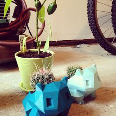 Bulbasaur planters (3D printed)