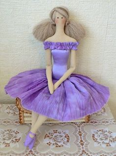 Lilac Tilda doll tutorial and pattern