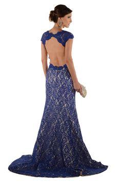 Aluguel Longo Sereia Azul Decote Costas - aluguel-vestidos-longos-aluguel-longo-sereia-azul-decote-costas