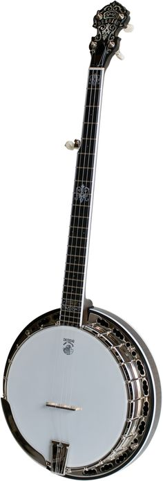 """Maple neck, rim & resonator with brown satin finish, Deering -06- 20 Hole Bronze tone ring, Deering one piece zinc flange, bound ebony fretboard with """"Steamboat Gothic"""" inlay pattern & John Hartford's"""