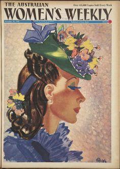 Issue: 30 Nov 1940 - The Australian Women's Weekly Old Magazines, Vintage Magazines, Vintage Images, Vintage Art, Vintage Ephemera, Vintage Beauty, Vintage Books, Magazine Art, Magazine Covers