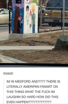 I'm sorry that our fandom has defaced public property, but I'm also strangely impressed.