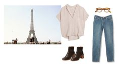 """""""Untitled #104"""" by oliviakang ❤ liked on Polyvore featuring MASSCOB, A.P.C. and See by Chloé"""