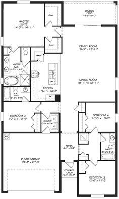 plan maison contemporaine plain pied en l 3 chambres et garage maison pinterest garage. Black Bedroom Furniture Sets. Home Design Ideas