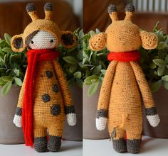 Ravelry: Crochet pattern 'Giraffe Gina' - Lalylala Modification pattern by My Krissie Dolls