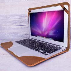 Handmade Leather Cover for Apple Macbook Air 11 inch in Antique Coffee | Burkley Case