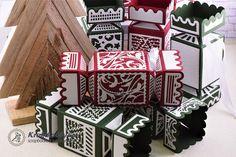 A mai blogbejegyzésben, szaloncukor formájú  ajándékdobozt készítünk el.  Tartsatok velem!      A mai blogbejegyzés a Tonic Studios Deco Craker box (TS2756E) varázslatos vágósablonjával k&eac... Advent Calendar, Gift Wrapping, Scrapbook, Holiday Decor, Box, Home Decor, Mint, Gift Wrapping Paper, Snare Drum