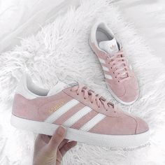 Gazelle ✨ Pink Sneakers, Adidas Sneakers, High Heels, Shoes Heels, Pumps, Adidas Gazelle Women, Girly M, All About Shoes, Shoe Shop