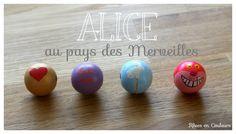 DIY - Alice in Wonderland wooden pearls