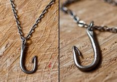 You have hooked him/her.  These fish hook necklaces are a great cheeky reference to your special catch of the day!