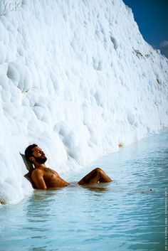Pamukkale, Turkey // Wait, hot and bearded guys waiting in pools for you. Pamukkale, Places To Travel, Places To See, Places Around The World, Around The Worlds, Thermal Pool, Capadocia, Famous Places, Holiday Destinations
