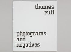 Thomas Ruff: Photograms and Negatives Catalogue, $80 @ Gagosian SHOP